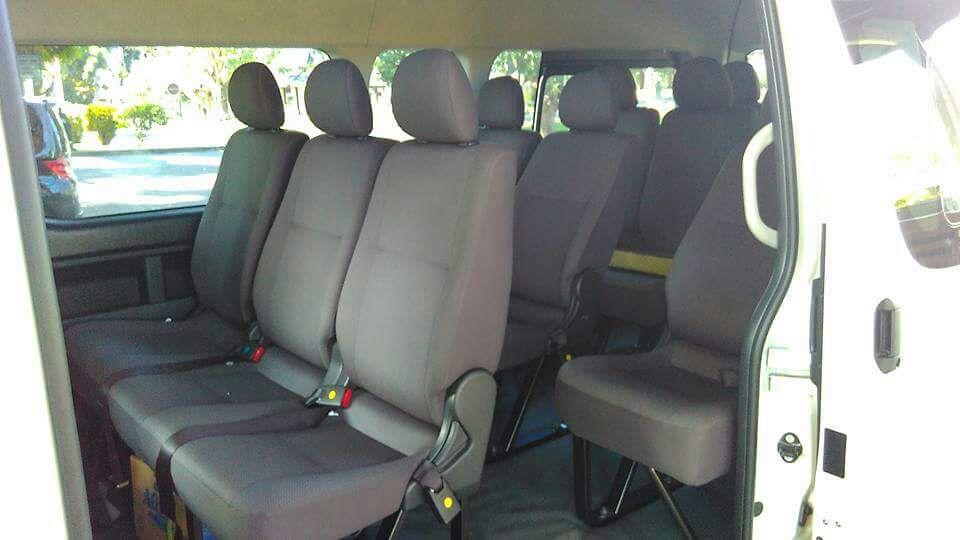 cabin penumpang rental mobil hiace